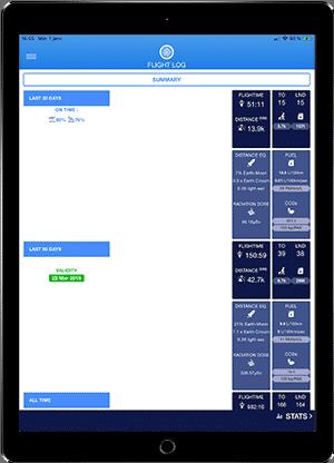 FlightLog Pilot App Stats Page