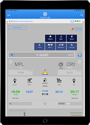 FlightLog Pilot App flight page